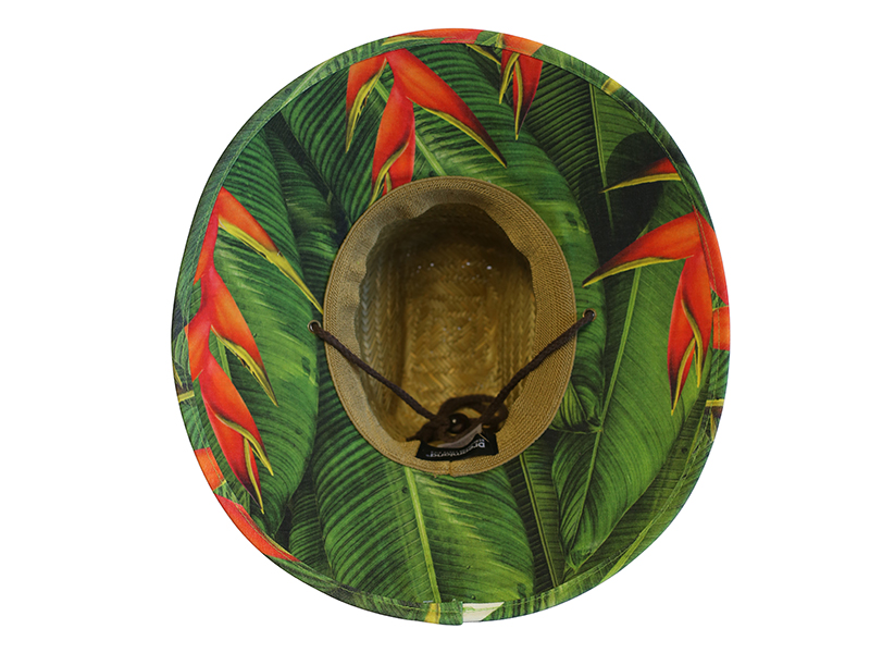 Hat Straw - Heliconia