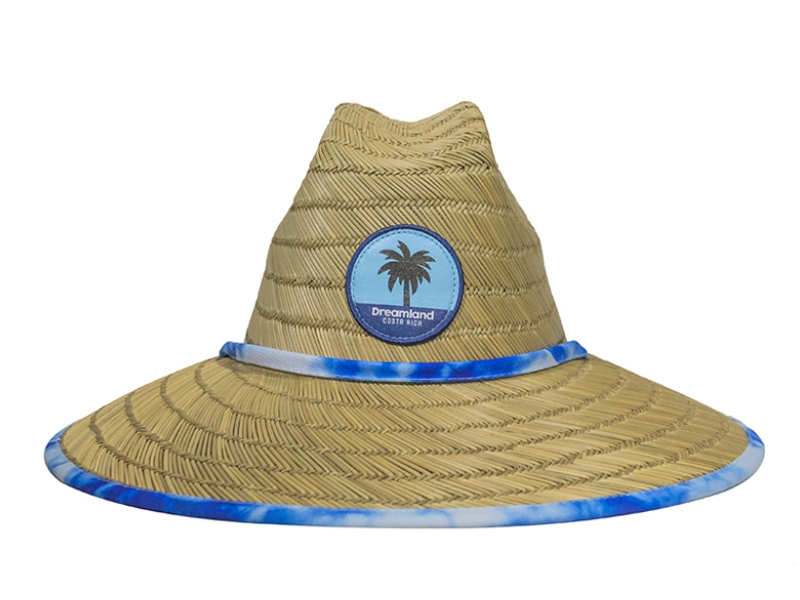 Hat Straw - Batik Blue